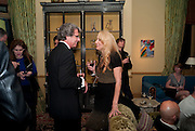WARWICK HEMSLEY; JERRY HALL, - Dinner at hosted by Ivor Braka at his home in Chelsea after the opening of Kelley Walker at the Thomas Dane Gallery. London. 13 October 2010. -DO NOT ARCHIVE-© Copyright Photograph by Dafydd Jones. 248 Clapham Rd. London SW9 0PZ. Tel 0207 820 0771. www.dafjones.com.