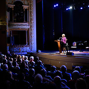 Lesley Stahl speaks at The Music Hall, May 11, 2016