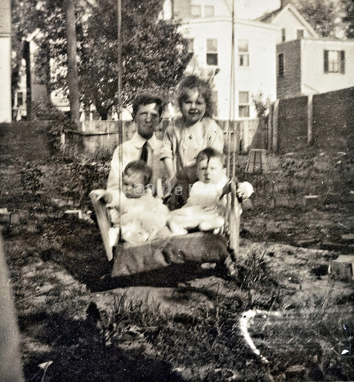 vintage children only family portrait