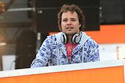 Koninginnedag 2008 - Museumplein Amsterdam STAGE.<br /> <br /> Het grootste Koninginnedag bijeenkmost op het Museumplein in Amsterdam georganiseerd door Radio 538.<br /> <br /> Op de foto: Jens Timmermans ( Radio 538 DJ )