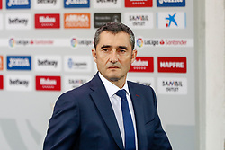 September 26, 2018 - Ernesto Valverde of FC Barcelona during the La Liga (Spanish Championship) football match between CD Leganes and FC Barcelona on September 26th, 2018 at Municipal Butarque stadium in Madrid, Spain. (Credit Image: © AFP7 via ZUMA Wire)