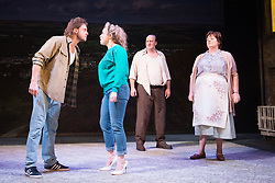 Rita, Sue and Bob Too<br /> By Andrea Dunbar<br /> at The Royal Court Theatre, London, Great Britain <br /> Press photocall <br /> 11Pm h January 2018 <br /> <br /> Directed by Kate Wasserberg <br /> <br /> James Atherton as Bob <br /> Samantha Robinson as Michelle <br /> David Walker as Dad <br /> Sally Bankes as Mum <br /> <br /> <br /> Photograph by Elliott Franks