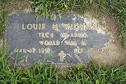 31 August 2017:   Veterans graves in Park Hill Cemetery in eastern McLean County.<br /> <br /> Louis H Wichman  Tec4  US Army  World War II  Mar 13 1917  Sep 17 1979