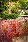 Fishing nets drying in the sun, Sipanska Luka, Sipan Island, Dalmatian Coast, Croatia