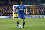 AFC Wimbledon defender Jon Meades (3) dribbling during the EFL Sky Bet League 1 match between AFC Wimbledon and Scunthorpe United at the Cherry Red Records Stadium, Kingston, England on 7 April 2018. Picture by Matthew Redman.