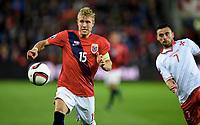 Fotball , 10. oktober 2015 ,  Euro-qual.<br /> Norge- Malta<br /> Norway - Malta<br /> Per Ciljan Skjelbred , Norge<br /> Clayton Failla , Malta