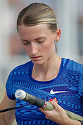Anzhelika Sidorova, Authorised Neutral Athlete, Russia, during the Diamond League Meeting at Stade Charlety, Paris, France on 24 August 2019.