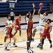 January 23 2021 Berkeley, CA  U.S.A. California guard Matt Bradley (20) takes a shot during the NCAA Basketball game between USC Trojans and the California Golden Bears 68-76 lost at Hass Pavilion. Thurman James / CSM