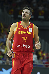 September 17, 2018 - Madrid, Madrid, Spain - Pierre Oriola of Spain in action  during the 2019 FIBA Basketball World Cup qualification match between Spain and Latvia at WiZink Center in Madrid, Spain, 17 September 2018  (Credit Image: © Oscar Gonzalez/NurPhoto/ZUMA Press)
