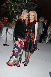 Left to right, NETTE MASON and LADY ANNUNZIATA ASQUITH at a dinner hosted by Cartier following the following the opening of the Chelsea Flower Show 2012 held at Battersea Power Station, London on 21st May 2012.