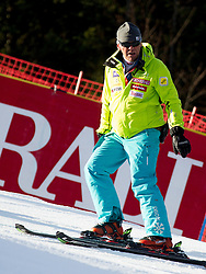 Roman Rozman of Slovenia prior to the 1st Run of 8th Men's Giant Slalom - Pokal Vitranc 2012 of FIS Alpine Ski World Cup 2011/2012, on March 10, 2012 in Vitranc, Kranjska Gora, Slovenia.  (Photo By Vid Ponikvar / Sportida.com)