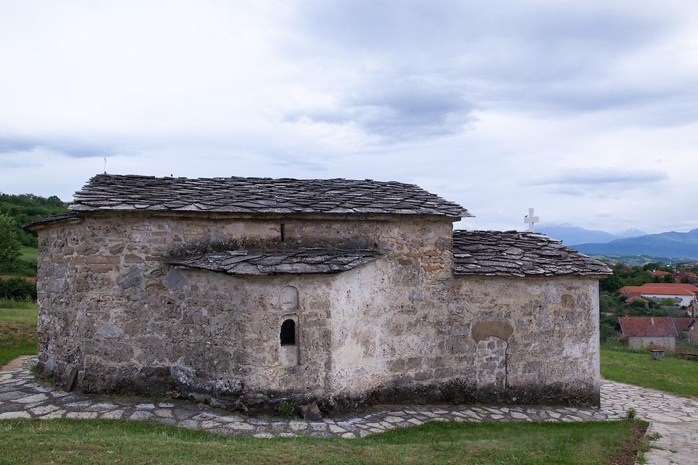 Old stone church in Rahovec, Kosovo.