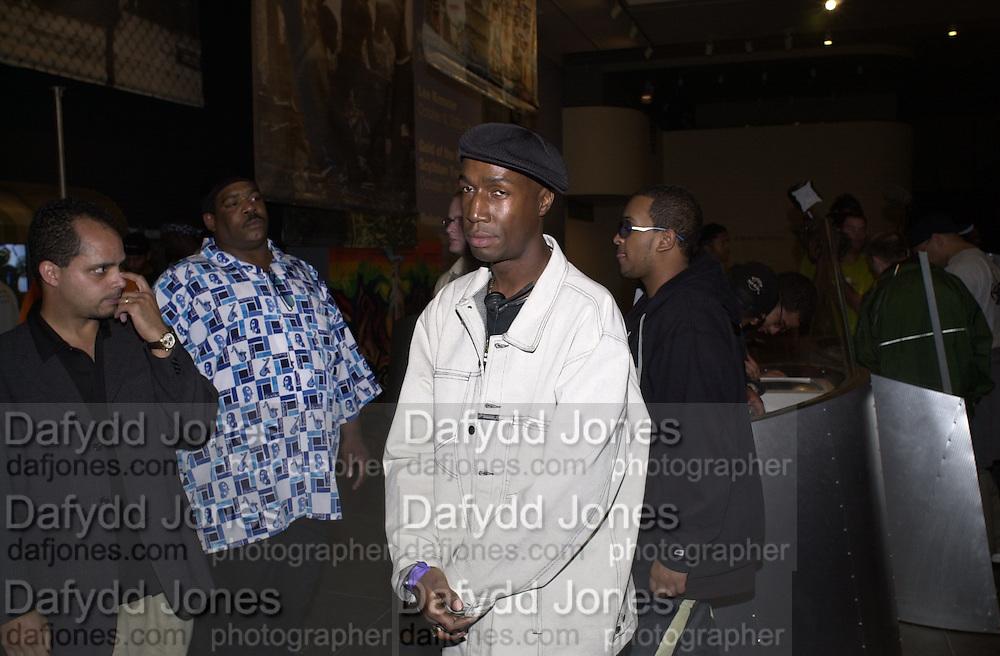 Grandmaster Flash. Opening of Hip Hop Nation. Brooklyn Museum of Art.  21 September 2000. © Copyright Photograph by Dafydd Jones 66 Stockwell Park Rd. London SW9 0DA Tel 020 7733 0108 www.dafjones.com