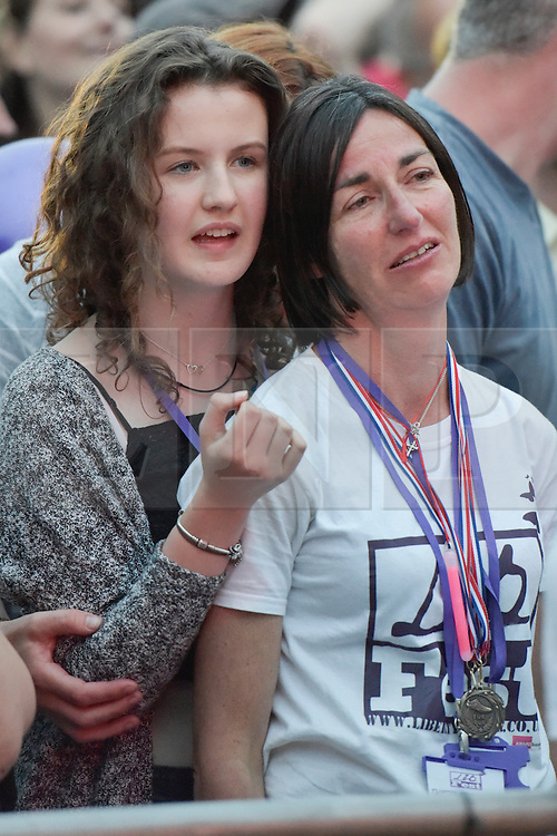 © Licensed to London News Pictures. 27/06/2015. Witney, Oxfordshire. MAUREEN BAKER (mum of Liberty Baker) and Liberty's best friend, MERCY GREANEY.  3000 attended the very first Lib Fest that took place in memory of Witney schoolgirl Liberty Baker who was killed on the way to school by 18 year old driver Robert Blackwell. PAUL BAKER, the father of Liberty was accused by Police of harassing the Blackwell family and was due in front of magistrates, but it was dropped at the last minute. Photo credit : MARK HEMSWORTH/LNP