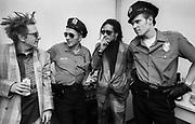Big Audio Dynamite 1986 Medicine Show Video Shoot, Joe Strummer, Don Letts and Paul Simonon