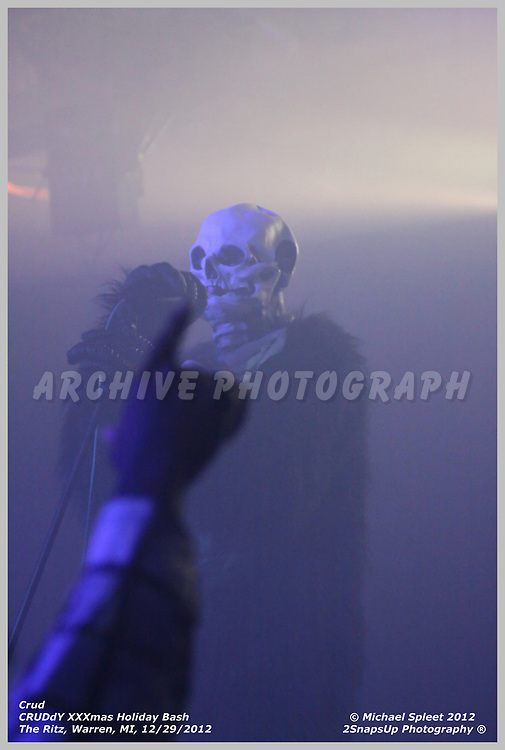 WARREN, MI, SUNDAY, DEC. 30, 2012 : Crud, CRUDdY XXXmas Holiday Bash, Vinnie Dombroski at The Ritz, Warren, MI, 12/30/2012.  (Image Credit: Michael Spleet / 2SnapsUp Photography)