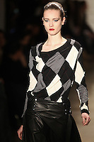 Jac walks the runway wearing Altuzarra Fall 2011 Collection during Mercedes-Benz Fashion Week in New York on February 12, 2011