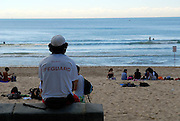 Manly Beach lifeguard, late afternoon. Manly, Sydney, Australia