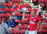 Football - 2020 / 2021 EFL Division One - Charlton Athletic vs Doncaster Rovers<br /> <br /> Charlton fans watch the match with masks on, at the Valley<br /> <br /> COLORSPORT/ANDREW COWIE