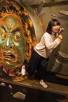 """Trick Art is a form of trompe l'œil.  Using optical illusions amazing images appear as 3D. Some images in the exhibition change depending on the angle and perspective in which you stand.  At the Odaiba Trick Art Museum, trick art, optical illusions and trompe l'oeil are presented as a kind of theme park or museum.  Visitors can pose in various positions and play with the exhibits which are called """"Haunted Mansion with Funny Monsters"""", the """"Trick Art Gallery"""" and the puzzle area."""