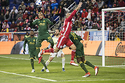 March 10, 2018 - Harrison, New Jersey, United States - Samuel Armenteros (99) of Portland Timbers controls ball during regular MLS game against New York Red Bulls at Red Bull Arena Red Bulls won 4 - 0 (Credit Image: © Lev Radin/Pacific Press via ZUMA Wire)