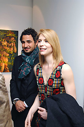 ZAC POSEN and CLAIRE DAINES at an exhibition of paintings by artist Rene Richard at the Scream Gallery, Bruton Street, London on 3rd April 2008.<br /><br />NON EXCLUSIVE - WORLD RIGHTS
