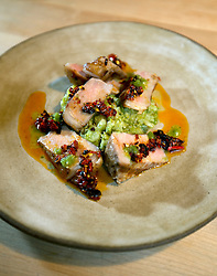 Grilled Llano Seco pork, at The Progress restaurant, Tuesday, Dec. 15, 2015, in San Francisco, Calif. (Photo by D. Ross Cameron)
