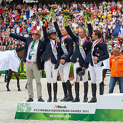 Team France - World Champions, - Second Round Team Competition - Alltech FEI World Equestrian Games™ 2014 - Normandy, France.<br /> © Hippo Foto Team - Leanjo De Koster<br /> 25/06/14