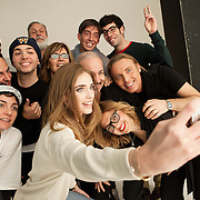 Milano, March 3rd, 2015. Italian blogger Chiara Ferragni after a shooting for Elle Magazine at Superstudio with the team.