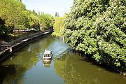 Pleasure boat, River Avon, Widecombe, Bath