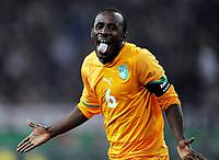 Fotball<br /> Tyskland v Elfenbenskysten<br /> Foto: Witters/Digitalsport<br /> NORWAY ONLY<br /> <br /> 18.11.2009<br /> <br /> Jubel 1:2 Seydou Doumbia Elfenbeinkueste<br /> Fussball Laenderspiel Deutschland - Elfenbeinkueste 2:2