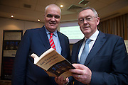NO FEE PICTURES<br /> 20/1/16  Noel Whelan with Sean O'Rourke at the launch of his book, The Tallyman's Campaign Handbook at the Alexander Hotel in Dublin. Picture: Arthur Carron