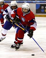 Ishockey<br /> VM for kvinner<br /> Graz Østerrike <br /> Norge<br /> Foto: Gepa/Digitalsport<br /> NORWAY ONLY<br /> <br /> 09.04.2009<br /> <br /> IIHF Damen Eishockey Weltmeisterschaft, Divison 1, SVK vs NOR. Bild zeigt Mari Skara Heen (NOR) und Natalie Babonyova (SVK).