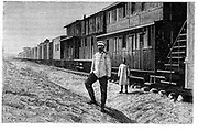 Construction of the Trans-Caspian Railway (Central Asian Railway). Begun in 1879, in 1888 it reached Smarkand, and in 1898 it extended to Tashkent and Andijan. Built by the Russians. From 'Le Journal de la Jeunesse', Paris, 1888. Engraving
