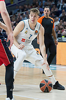 Real Madrid Luka Doncic during Turkish Airlines Euroleague match between Real Madrid and Baskonia Vitoria at Wizink Center in Madrid, Spain. January 17, 2018. (ALTERPHOTOS/Borja B.Hojas)