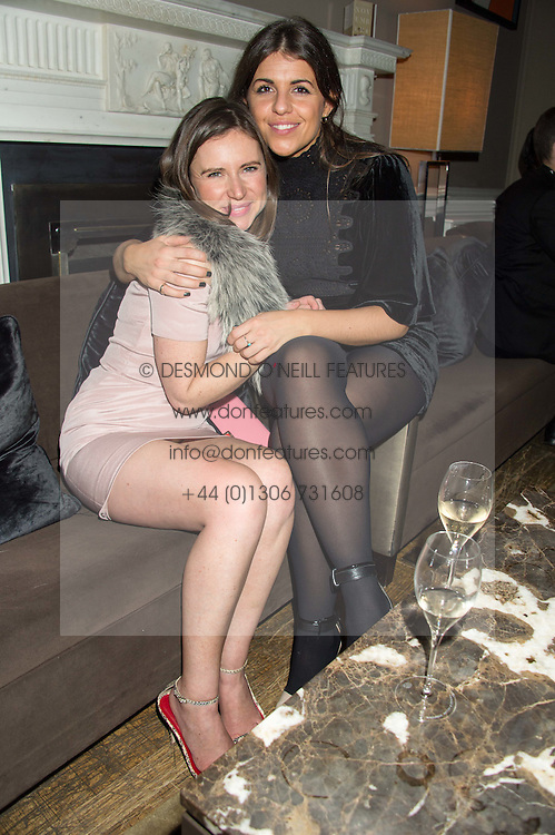 Left to right, SOPHIE GOODWIN and EVE JONES at the Tatler Little Black Book Party at Home House Member's Club, Portman Square, London supported by CARAT on 11th November 2015.
