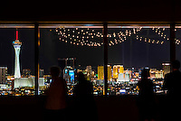 Overview of the Stratosphere and The Strip from the World Market Center Las Vegas, Las Vegas, Nevada USA.