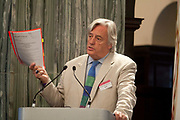 "London session of the Russel Tribunal on Palestine. "" Corporate Complicity in Israel's violations in international human rights law and international humanitarian law"". <br /> Michael Mansfield QC"