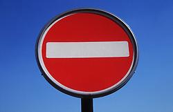 No Entry road sign,
