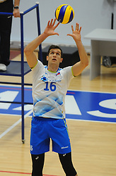 Gregor Ropret of Slovenia during friendly volleyball match between National teams of Serbia and Slovenia, on August 18, 2017, in Belgrade, Serbia. Photo by Nebojsa Parausic / MN press / Sportida