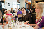 ERIN O'CONNOR 9 HOLDING JASMINE GUINNESS DAUGHTER) ; RUBY RAINEY; ZAC POSEN; JADE PARFITT, The launch of the Belvedere Bloody Mary Brunch to London's Caprice. Le Caprice. Arlington st. London. 7 April 2011.  -DO NOT ARCHIVE-© Copyright Photograph by Dafydd Jones. 248 Clapham Rd. London SW9 0PZ. Tel 0207 820 0771. www.dafjones.com.