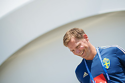 June 21, 2018 - Gelendzhik, RUSSIA - 180621 Scout Roger Sandberg of the Swedish national football team at a press event during the FIFA World Cup on June 21, 2018 in Gelendzhik..Photo: Joel Marklund / BILDBYRN / kod JM / 87720 (Credit Image: © Joel Marklund/Bildbyran via ZUMA Press)