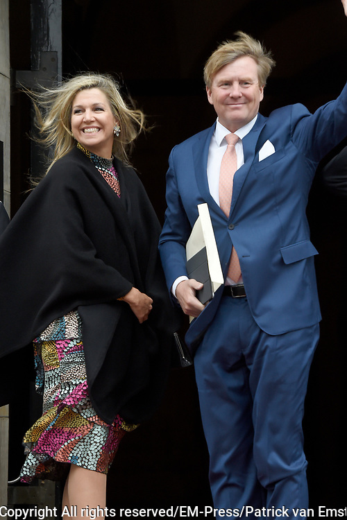 Koning Willem-Alexander en koningin Maxima houden de traditionele Nieuwjaarsontvangst voor Nederlandse genodigden in het Koninklijk Paleis op de Dam, Amsterdam<br /> <br /> King Willem-Alexander and Queen Maxima hold the traditional New Year's reception for Dutch guests in the Royal Palace on Dam Square, Amsterdam<br /> <br /> Op de foto / On the photo:  Koning Willem-Alexander en Koningin Maxima / King Willem-Alexander and Queen Maxima