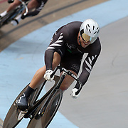 Edward Dawkins, New Zealand, in action during the Men's Keirin4 at the 2012 Oceania WHK Track Cycling Championships, Invercargill, New Zealand. 21st November 2011. Photo Tim Clayton