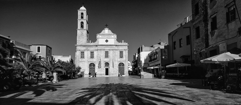 Church in Chanie, Crete - Kirkja í Chania á Krít