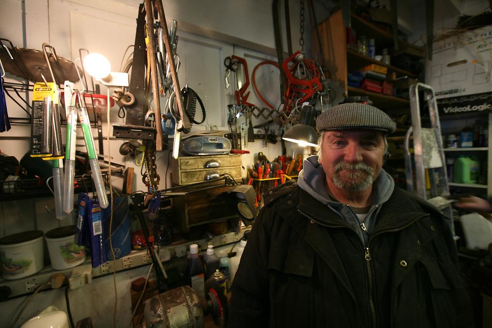 portrait of a stallholder at Brighton open market