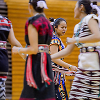 050715       Cable Hoover<br /> <br /> Crownpoint High School student Savanna Larvingo performs a sash belt dance with her classmates during the Navajo Language and Culture Fest Thursday at Gallup High School.