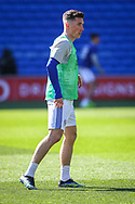 Cardiff City's Harry Wilson (23) in action during the pre-match warm-up before the EFL Sky Bet Championship match between Cardiff City and Nottingham Forest at the Cardiff City Stadium, Cardiff, Wales on 2 April 2021.