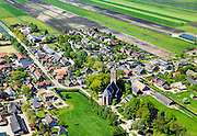 Nederland, Utrecht, Gemeente  De Bilt, 27-05-2013; het dorp Westbroek rond de kerk en te midden van de weilanden. The village Westbroek, around the church.<br /> <br /> luchtfoto (toeslag op standard tarieven)<br /> aerial photo (additional fee required)<br /> copyright foto/photo Siebe Swart