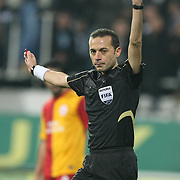 Referee's Cuneyt CAKIR during their Turkish Superleague Derby match Besiktas between Galatasaray at the Inonu Stadium at Dolmabahce in Istanbul Turkey on Sunday, 20 November 2011. Photo by TURKPIX